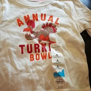New 6 month Boys Annual Turkey Bowl Long Sleeve